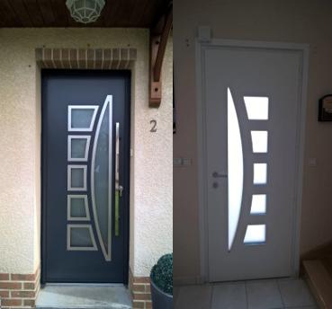 Porte en aluminium gamme contemporaine mod le enko instinct fen tres for Porte entree alu contemporaine