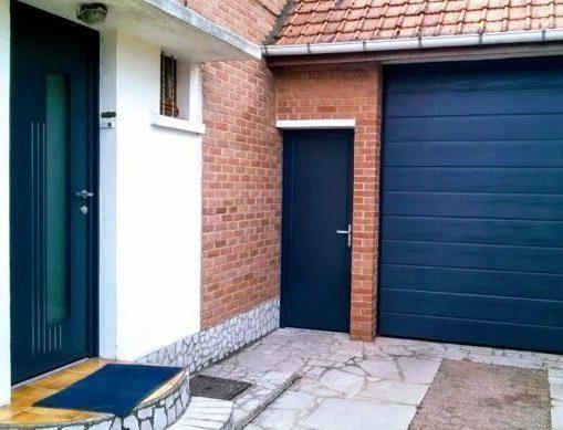 chantier r novation grenay 62160 remplacement de la porte de garage porte d 39 entre et. Black Bedroom Furniture Sets. Home Design Ideas