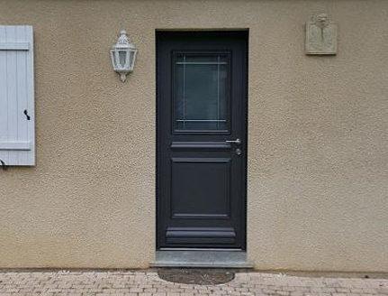 porte en aluminium de chez kline mod le 1 vitrage collection cr ative instinct fen tres. Black Bedroom Furniture Sets. Home Design Ideas