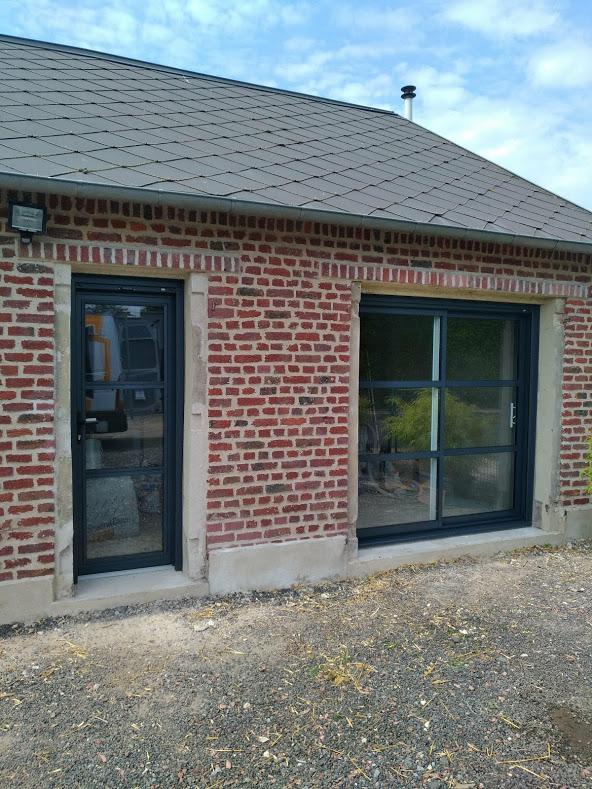Pose De Menuiseries Aluminium De Chez Kline Porte Fenêtre
